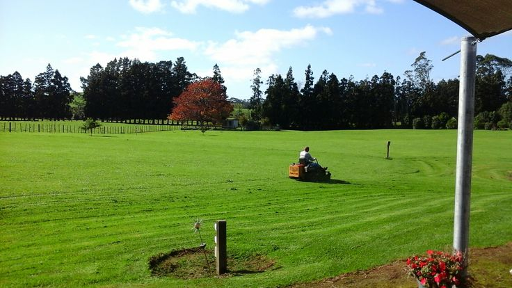 Winter mowing, the chores still have to be done