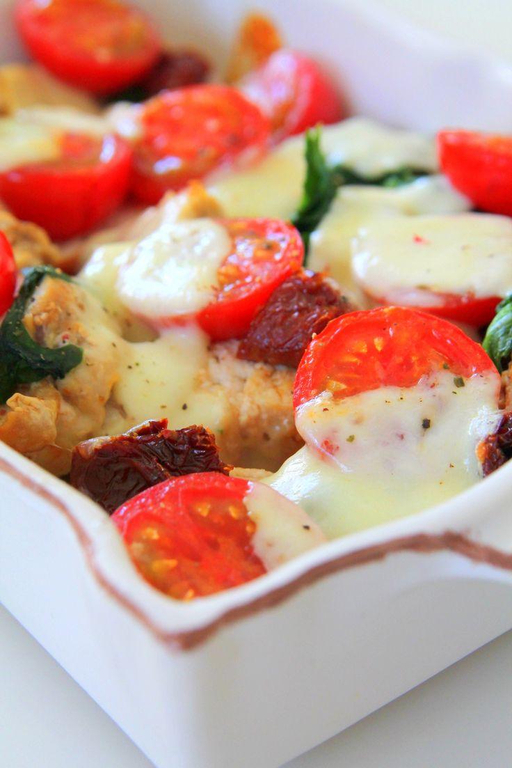 Kyckling med soltorkade tomater och mozzarella - Jennys matblogg