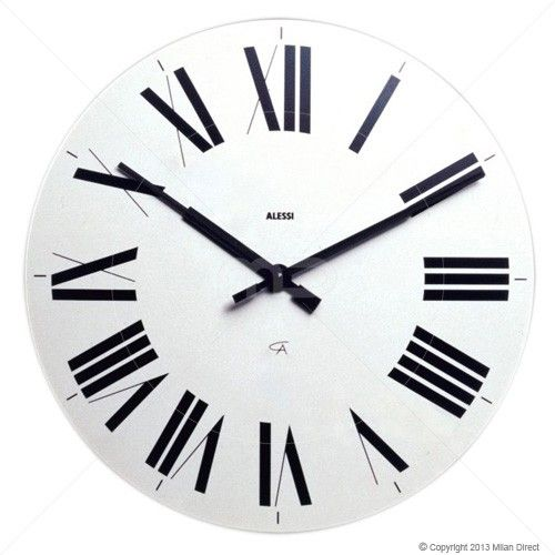 109 Alessi Firenze Wall Clock White White Wall