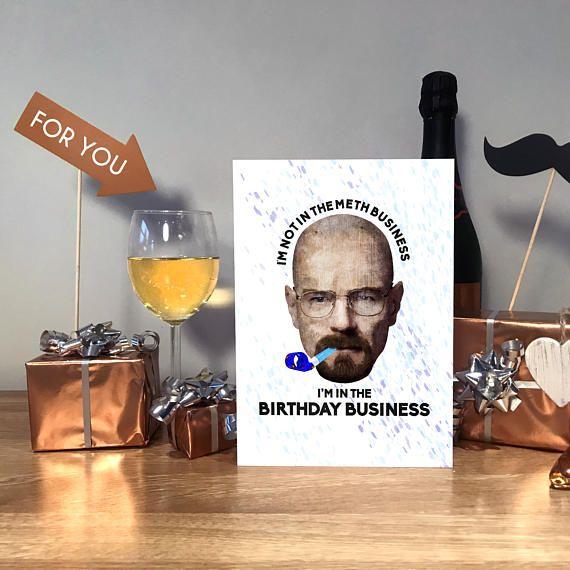 Breaking Bad Birthday Walter White Birthday Funny Birthday #birthdaycard #funnybirthdaycard #handmadecard #breakingbad #walterwhite
