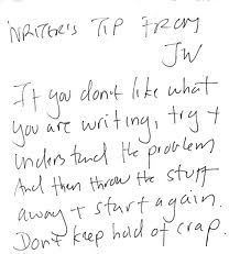 writing advice - Jeanette Winterson