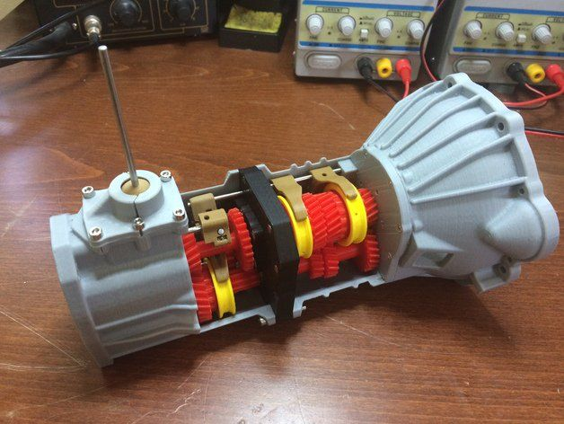 Mechanical Engineer 3D Prints a Working 5-Speed Transmission for a Toyota 22RE Engine http://3dprint.com/50265/3d-printed-toyota-transmission/