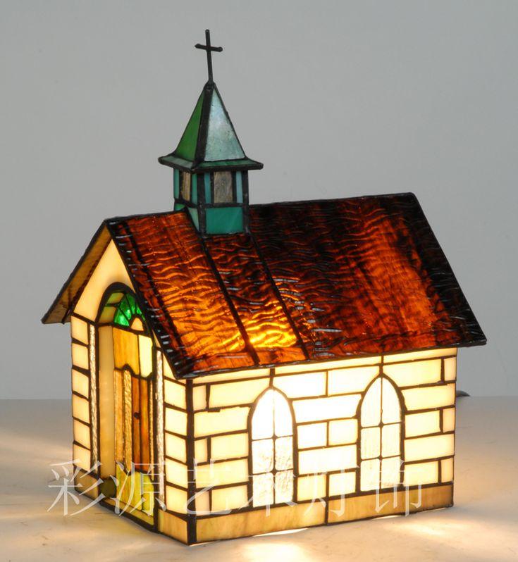 Envoyer la lumière européenne créative chambre chevet lampe nuit light vitrail Tiffany lampes petite maison dans Films décoratifs de Amélioration de l'habitat sur AliExpress.com | Alibaba Group