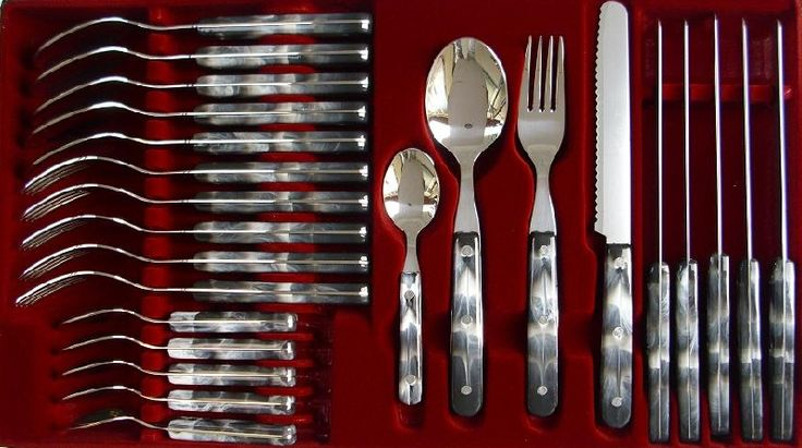 Onlineshop Messer und Bestecke von Goodwell und Fixwell aus Solingen : 24-tlg. Tafel-Besteck, Welle,