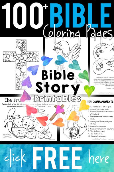 100+ Free Bible Coloring Pages!  BibleStoryPrintables.com  Creation Coloring, Adam and Eve, Ten Commandments, Easter, Angels, Christmas and more!  http://www.biblestoryprintables.com/BibleColoring
