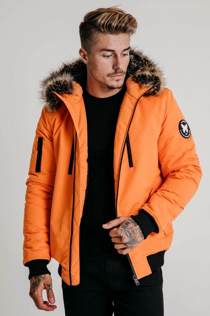 Arctic Orange Bomber Parka
