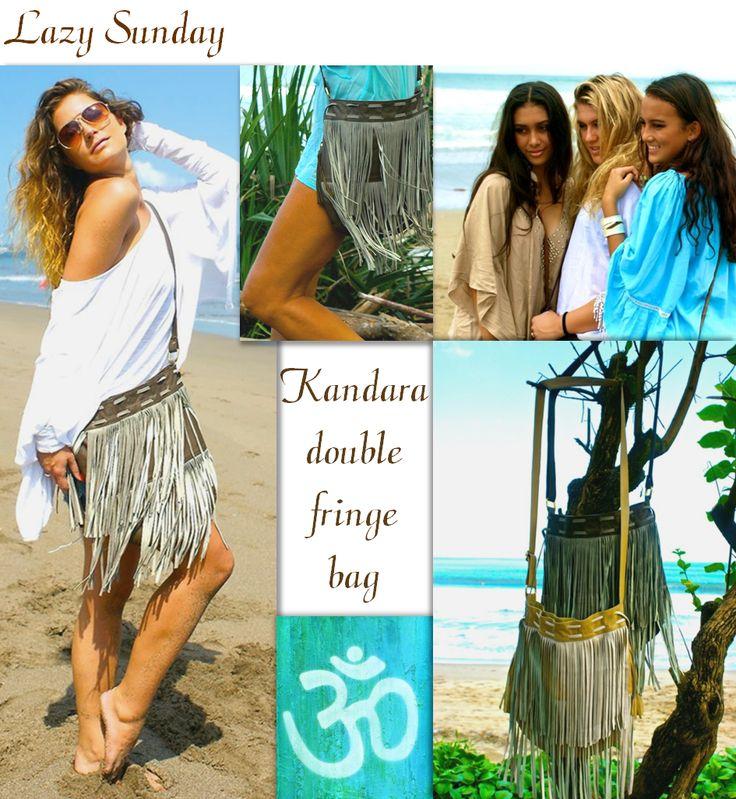 INDY Ibiza fringe bag Get the #Ibiza look! #bags #bohemian #double fringe  www.indyibiza.com