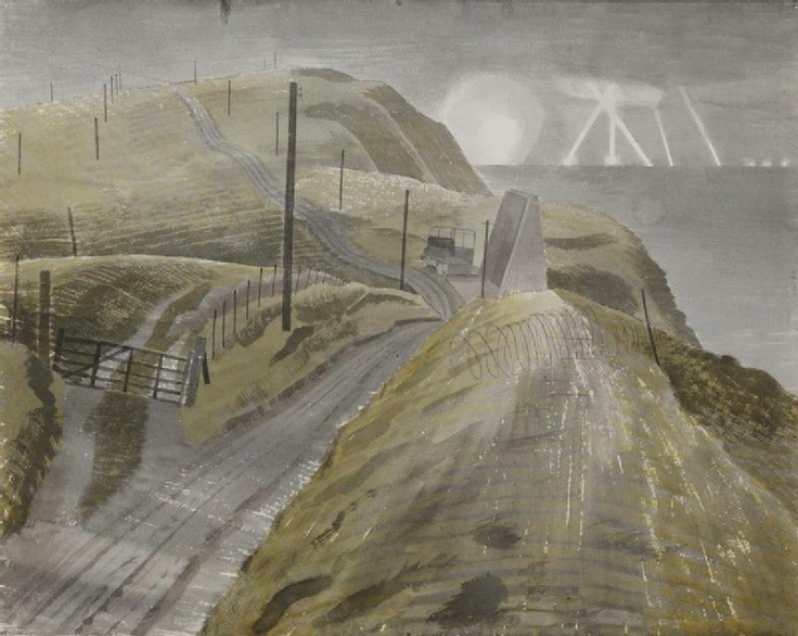Bombing the Channel Ports by Eric Ravilious, 1941.