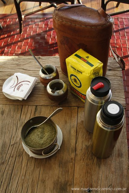 "Uruguayan mate kit. ""Canarias"" is produced in Brazil and widely consumed in Uruguay."