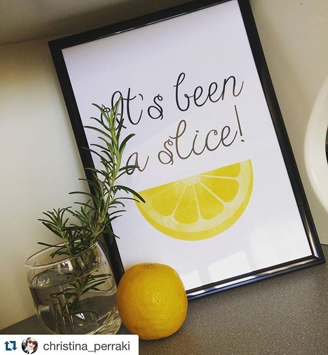 "Here's @christina_perraki with her ""It's Been A Slice"" Printable in the most cutest setting!  . Get it on some gear at www.society6.com/avenger 