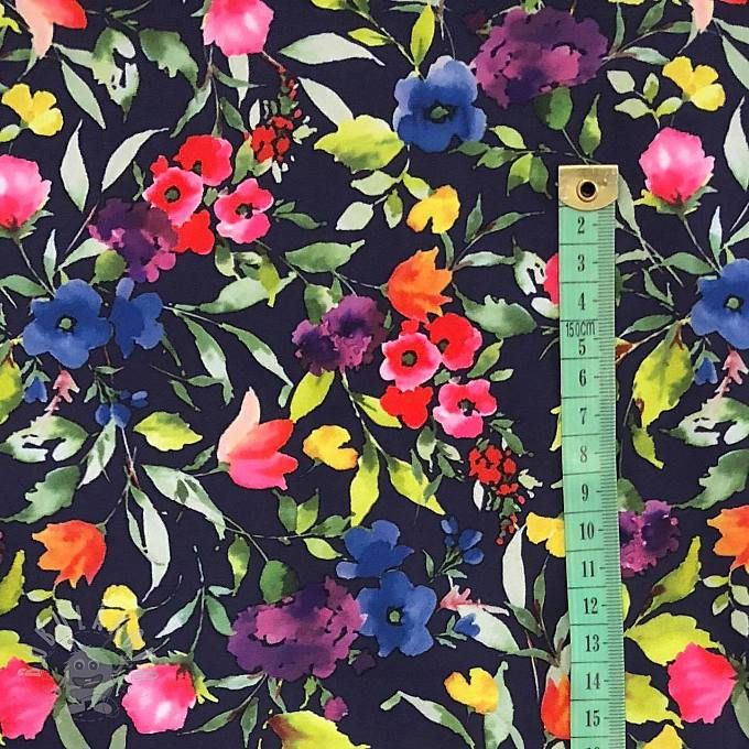 Softshell zimní Aquarelle flowers navy  007da085b4