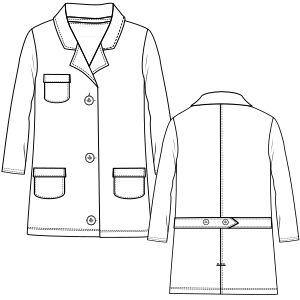 Consulta los patrones ropa bebes Guardapolvo 6712 UNIFORMES Guardapolvos