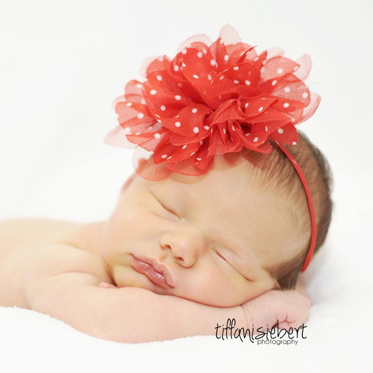 15 Off Baby Headbands Red Headband Baby Girl by cutenessbuns, $9.00