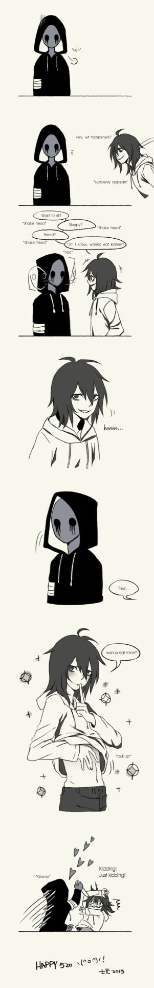 eyeless jack | Tumblr i dont ship but its hilarious xD
