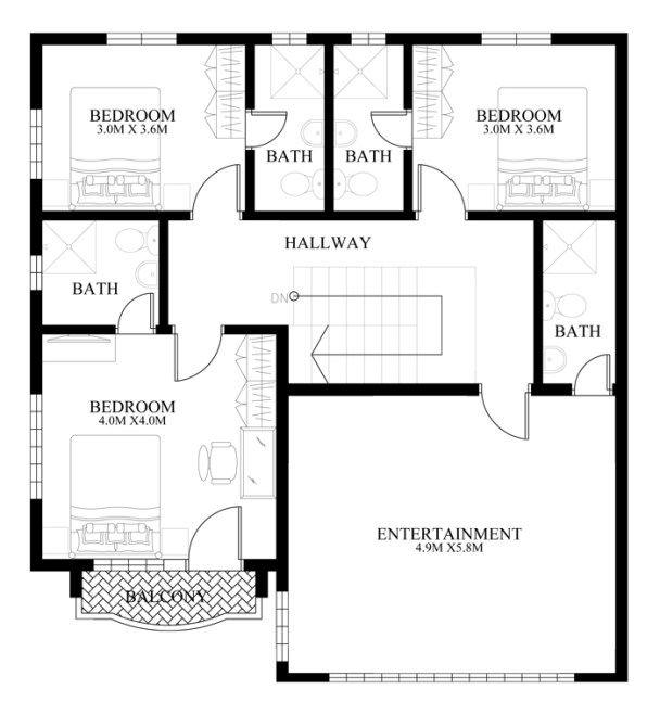 38 mejores im genes de planos en pinterest dise o de for Diseno de casa de 180 metros cuadrados
