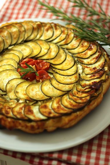 Tatin courgettes