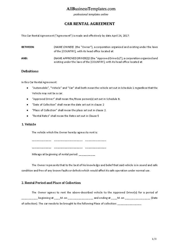 Car Rental Agreement template - Download this Car Rental template and after downloading you will be able to change and customize every detail and appearance and finish it in minutes.