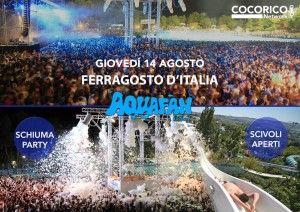 Schiuma party di Ferragosto 2014 @ Aquafan con Gigidag http://www.nottiromagnole.it/?p=13678