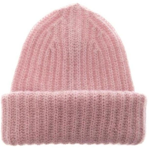 Takori St Moritz Mohair Blend Beanie ❤ liked on Polyvore featuring accessories, hats, beanie cap, beanie cap hat and beanie hat