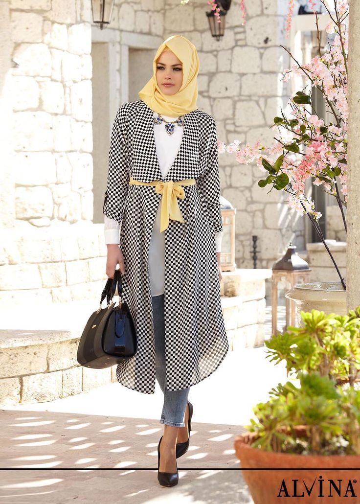 long kimono for hijab style