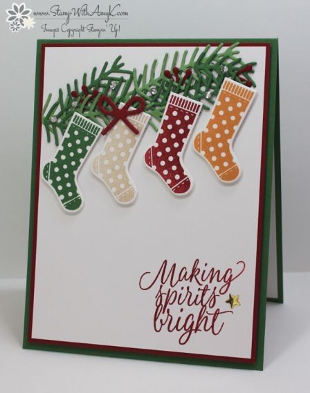 566 best christmas cards mittensstockings images on pinterest stampin up hang your stocking for sunday stamps diy cardsxmas m4hsunfo Gallery