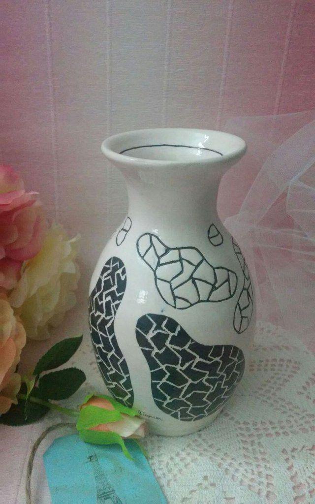 *Vaso in terracotta cesellato a mano*, by Creazioni Artigianali di Bianca e Giuly, 15,00 € su misshobby.com