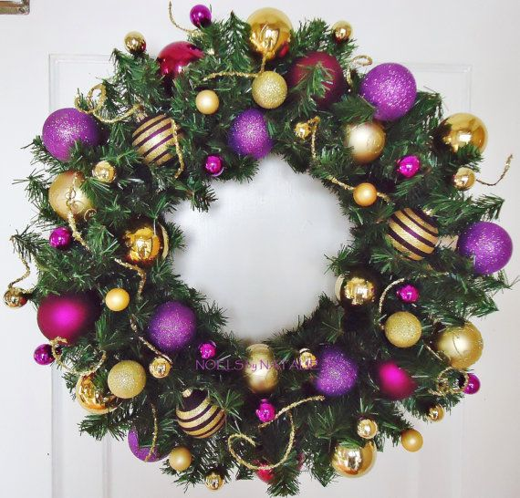 Best purple and gold christmas decorations images on