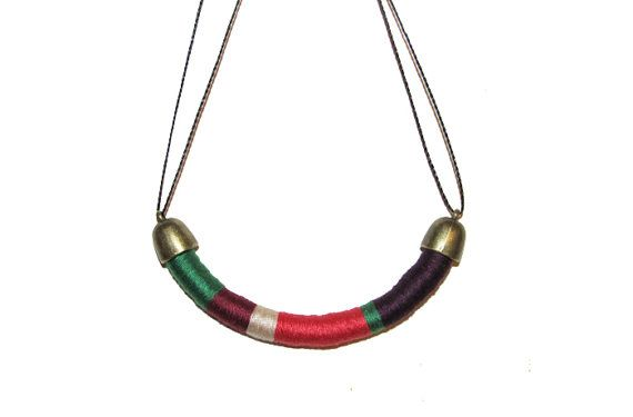 African Tribal Statement Rope Necklace by ThreeAndTwentyy on Etsy, $20.00