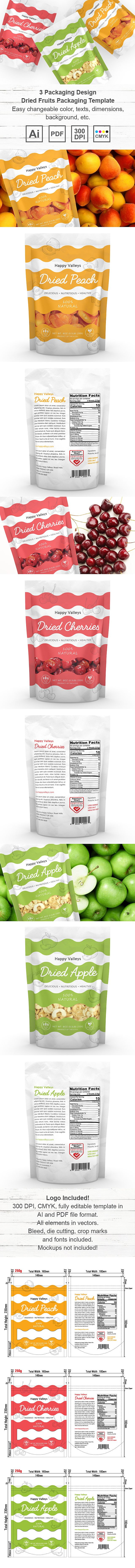 Dried Fruits Packaging Template http://www.dlayouts.com/template/1090/dried-fruits-packaging-template