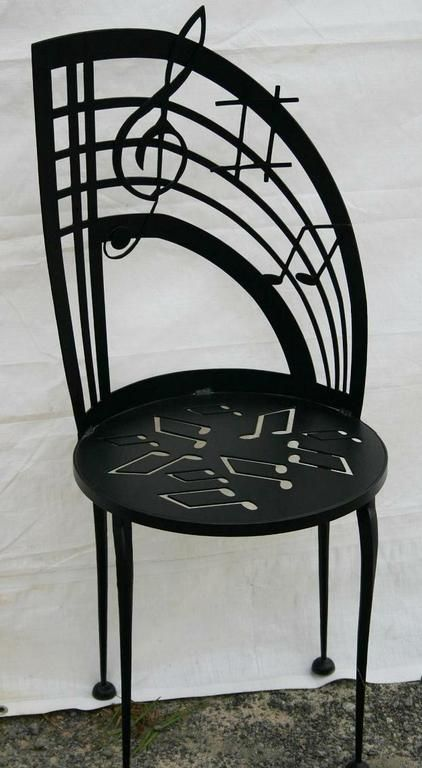 Chair with Music Notes