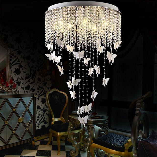 Prata LED luxo lustres de cristal k9 lâmpada LED modern criativo simples restaurante lustres