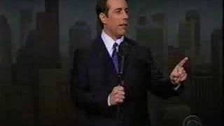 Jerry Seinfeld returns to Comedy on the Letterman show, via YouTube.