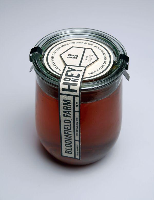 Bloomfield Farm Honey Packaging by Allie Fields, via AIGA Portfolio
