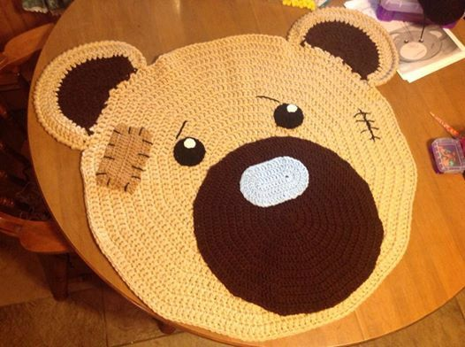 Classic Bear Crochet Rug Play Mat by BunniesBearsOhMy on Etsy