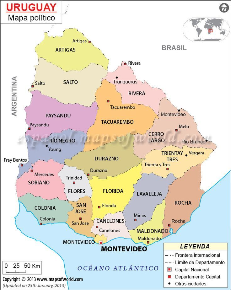11 best mapa del uruguay images on pinterest south america mapa politico de uruguay sciox Choice Image