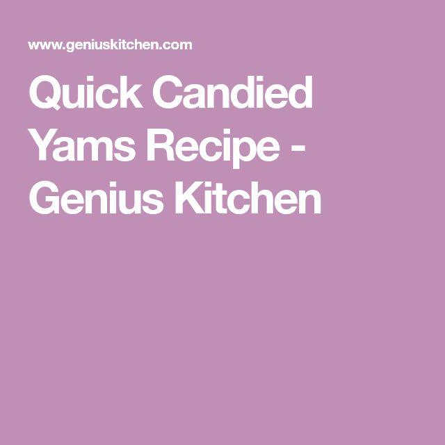 Quick Candied Yams Recipe - Genius Kitchen
