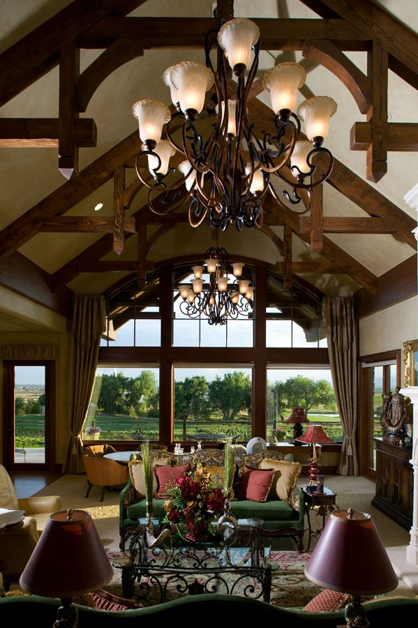 9 best wood ceilings images on pinterest for Half vaulted ceiling with beams