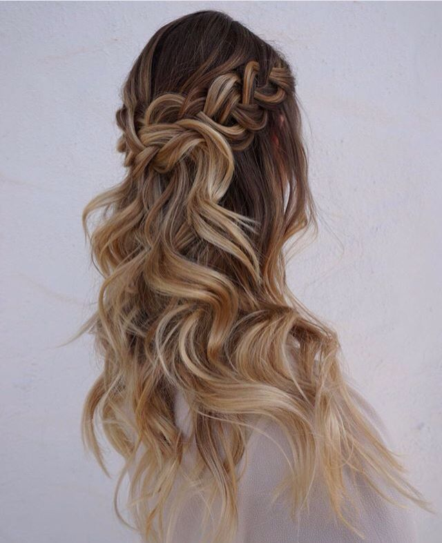 wavy hair with a loose braid