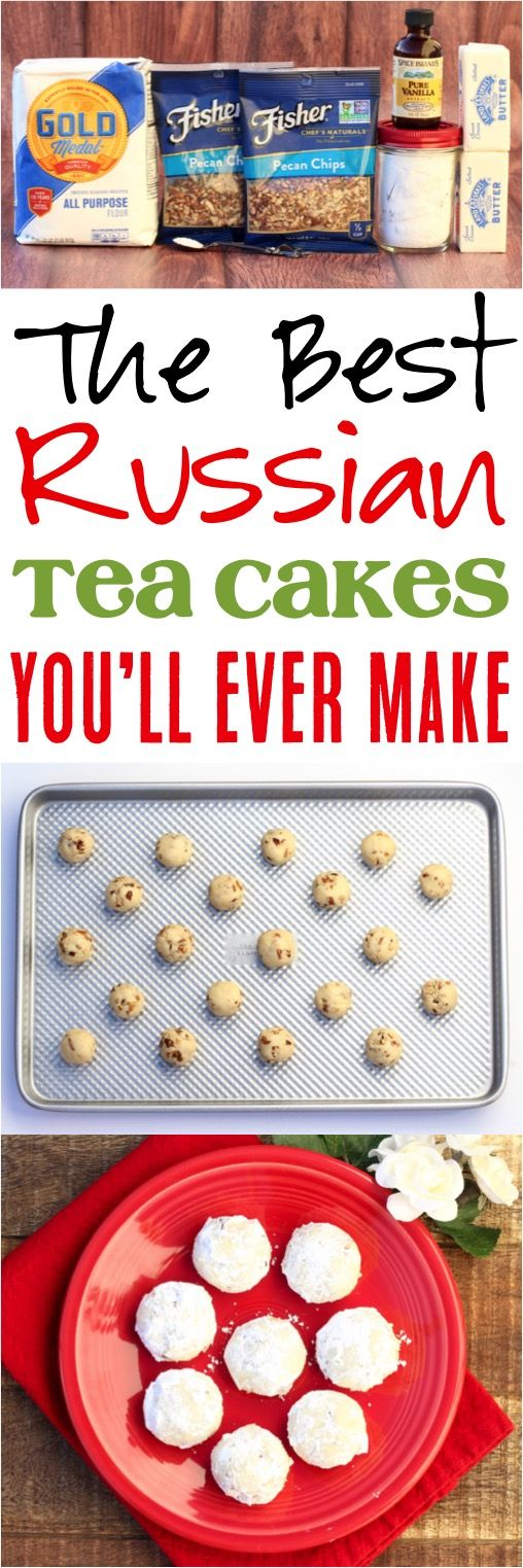 Russian Tea Cakes Recipe!  These powdered sugar cookies are perfect for your Christmas and holiday parties!