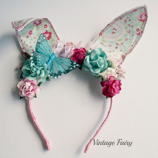 Jemima bunny ears available at Vintage Fairy  www.vintagefairy.com.au  Made for all ages