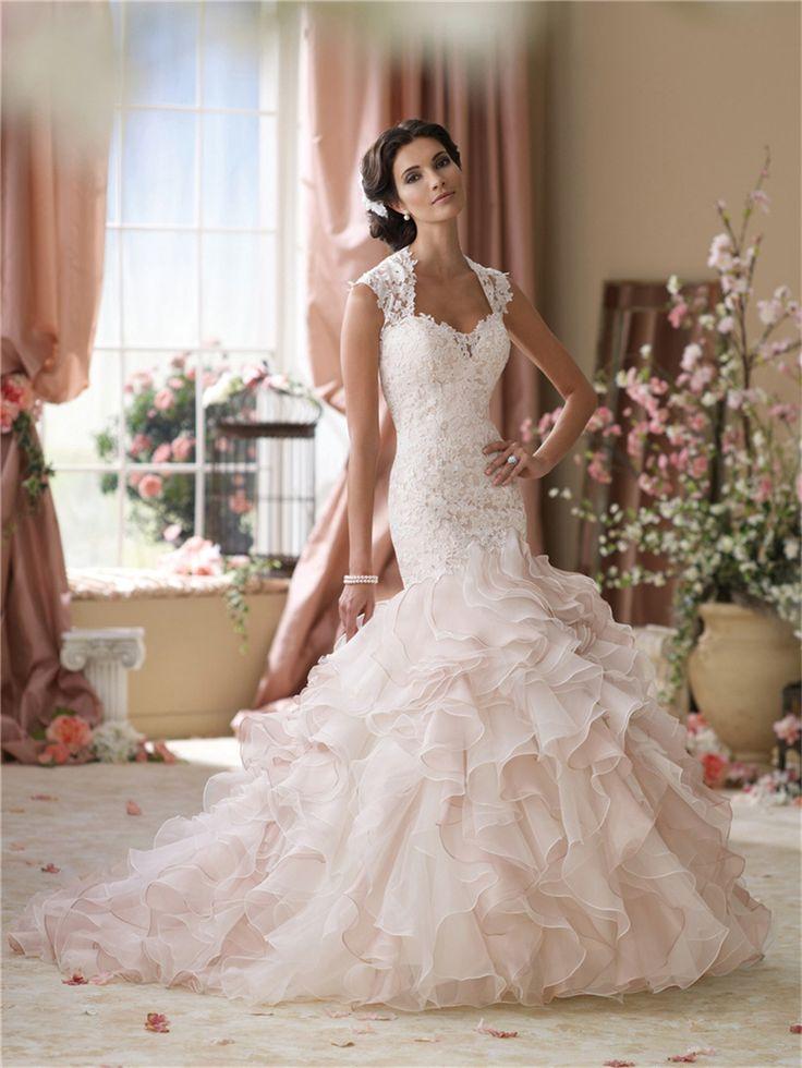 Cheap Sirena Elegante Volantes De Encaje Vestidos 2015