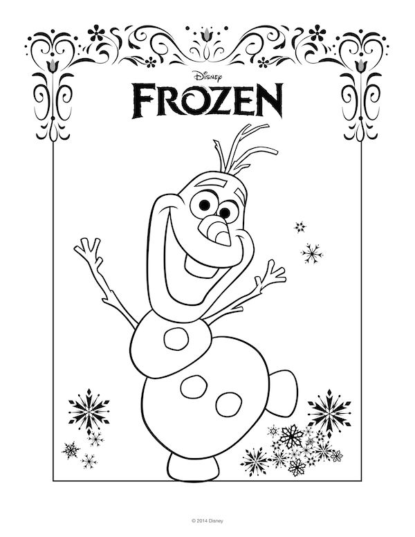 Valentines Day Coloring Pages Frozen : Best images about disney printables on pinterest