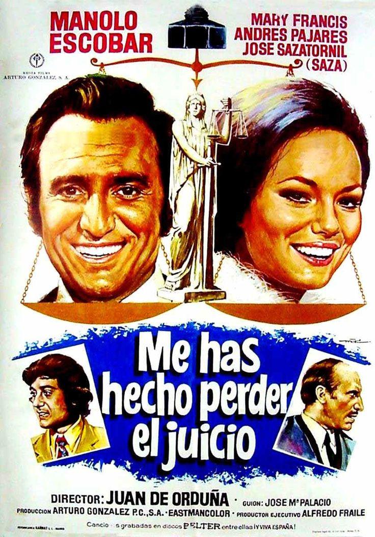 COLECCIÓN DE CARTELES ANTIGUOS DE CINE- Me has hecho perder el juicio 1973, con Manolo Escobar