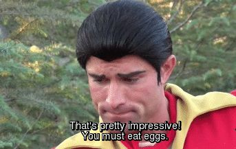 That time Gaston was impressed by this guy's muscles.   Community Post: 25 Times Disney Face Characters Were Completely Adorable