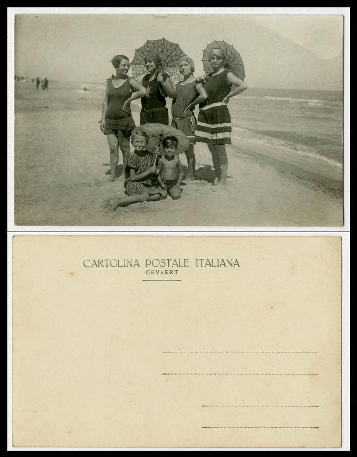 LE BELLE RAGAZZE AL MARE-SPIAGGIA-MODA-VECCHIA FOTO D EPOCA/OLD PHOTO-ANNI 20 CA