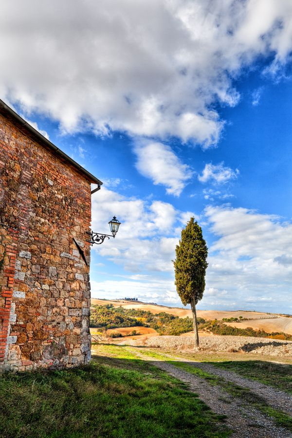 """Tuscany - """"Farmhouse with Cypress"""" by Marco Carmassi"""