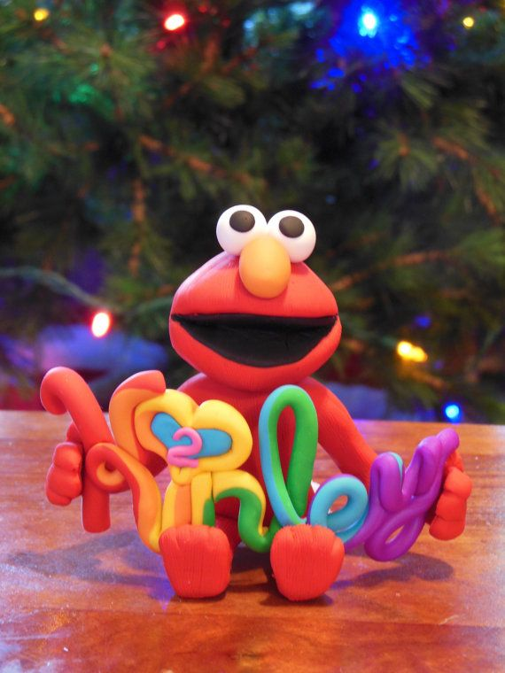 Custom Personalized Elmo Christmas Ornament / by ToppersForTheTree, $35.00
