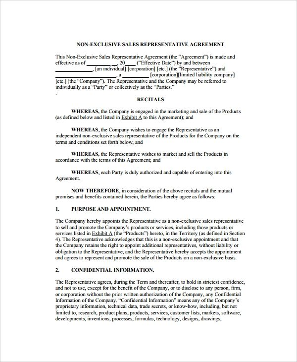 Sales Agency Agreement Template Contract Template Agreement Templates