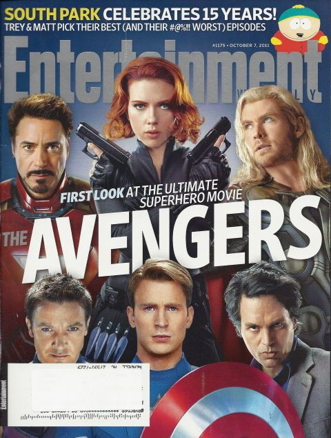Avengers Entertainment Weekly Oct 2011 South Park Samuel Jackson Angela Bassett