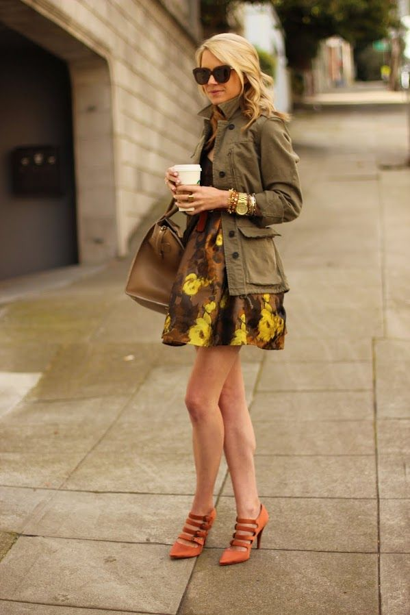 She looks amazing in everything - but this outfit - the watch + bracelets and skirt with jacket. Awesome look.